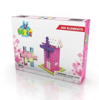 Развивающий 3D конструктор Meli Basic Розовый 600 элементов