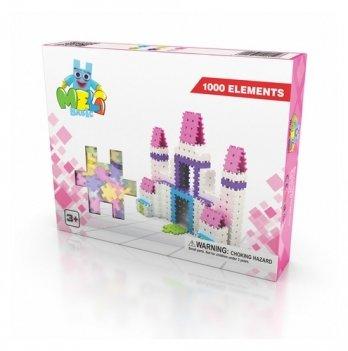 Развивающий 3D конструктор Meli Basic Розовый 1000 элементов