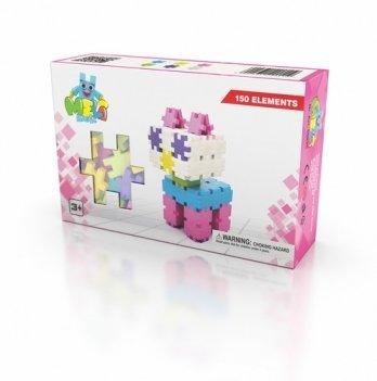 Развивающий 3D конструктор Meli Basic Розовый 150 элементов
