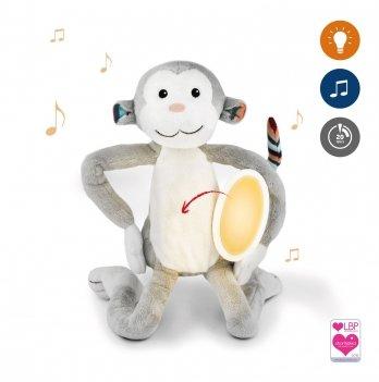 Музыкальная мягкая игрушка Zazu, обезьянка МАКС с ночником