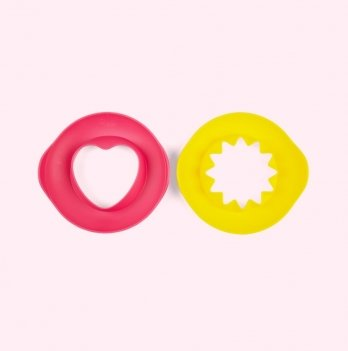 Игрушка для ванны и пляжа Quut, Волшебные формочки SUNNY LOVЕ, цвет розовый + желтый