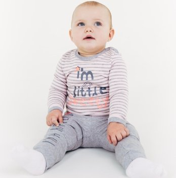 Кофта Smil от 6 до 18 месяцев серая/розовая полоска