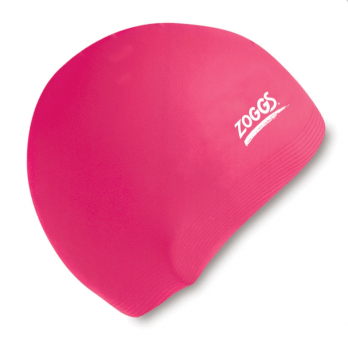 Шапочка для плавания Zoggs Junior Silicone Cap, розовая