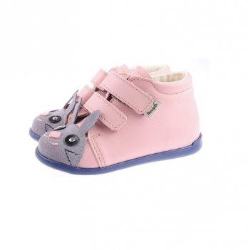 Ботинки Зайка кожаные демисезонные Mrugala розовые