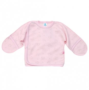 Распашонка футер Minikin Зайцы 00101, розовая