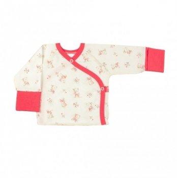 Распашонка Veres Little Bear pink кулир