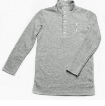 Гольф для мальчика Модный карапуз, серый