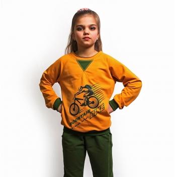 Джемпер детский Модный карапуз, Mountain bike, желтый