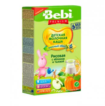 Каша рисовая Kolinska Bebi PREMIUM, молочная, тыква, яблоки 200г