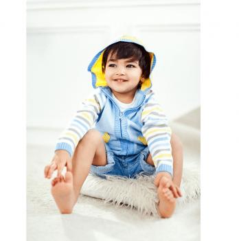 Кофта для мальчика ТМ Lutik с капюшоном желтая