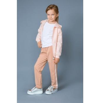 Штаны двунитка для девочек Модный карапуз, розовые