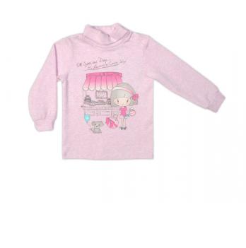 Гольф Garden baby для девочки, розовый меланж, 39045-09
