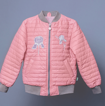 Куртка-ветровка для девочки Модный карапуз Iris, розовая