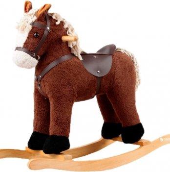 Игрушечный конь - качалка,  ROCK MY BABY, цв.коричневый c музыкой