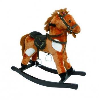 Игрушечный конь - качалка,  ROCK MY BABY, цв.коричнево/белый