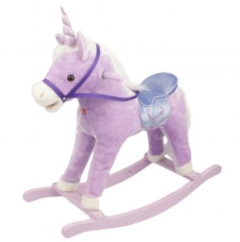 Игрушечная пони - качалка,  ROCK MY BABY с музыкой, цв.сиреневый