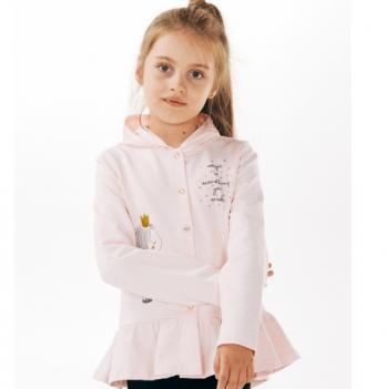 Кофта с капюшоном Smil для девочек Розовый-персик 2-6 лет