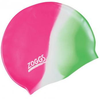 Шапочка для плавания Zoggs Junior Silicone Cap Multi Colour, розовая