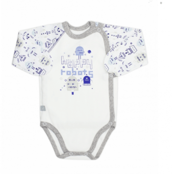 Бодик для новорожденных с длинным рукавом Smil Роботы