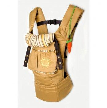 Эргономичный рюкзак Модный карапуз My baby Горчичный 03-00345