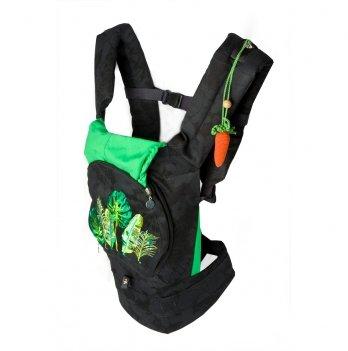 Эргономичный рюкзак для переноски ребенка Модный карапуз Черный 03-00736