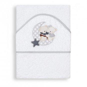 Полотенце-уголок Interbaby Amoroso серое