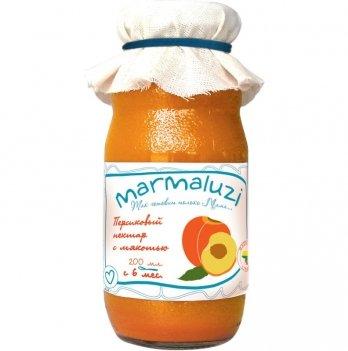 Нектар Marmaluzi персиковый с мякотью 200 мл