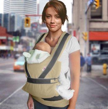 Эрго-рюкзак переноска Summer Breezy Premium Ontario Baby ART-0000266 бежевый