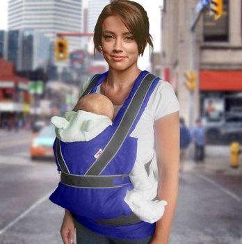 Эрго-рюкзак переноска Summer Breezy Premium Ontario Baby ART-0000046 синий