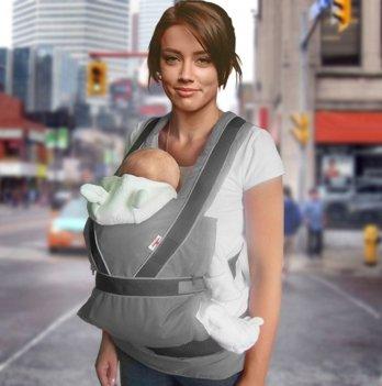 Эрго-рюкзак переноска Summer Breezy Premium Ontario Baby ART-0000268 серый