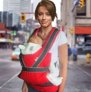 Эрго-рюкзак переноска Summer Breezy Premium Ontario Baby ART-0000045 красный