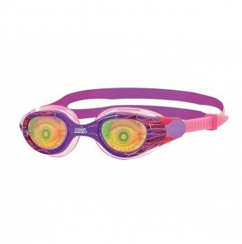 Очки для плавания Zoggs Sea Demon Junior, возраст 6 - 14 лет, розовые