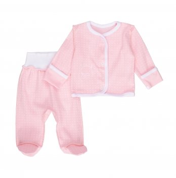 Комплект детский интерлок SeeYou 000000011 розово-белый