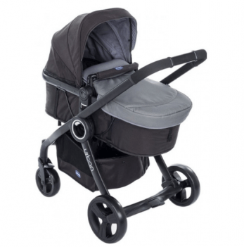 Коляска Chicco Urban Plus Stroller 2 в 1, темно-серая