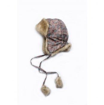 Детская зимняя шапка Модный карапуз, коричневая