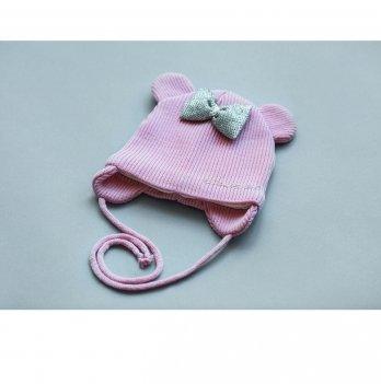 Шапка демисезонная для девочки Модный карапуз Sweet Пудровый 03-00843