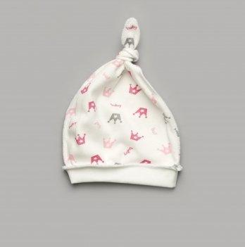 Шапочка c узелком Модный карапуз Короны Розовый 301-00046