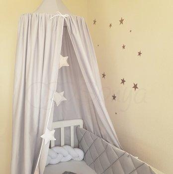 Шатер - балдахин Маленькая Соня на детскую кроватку, серый