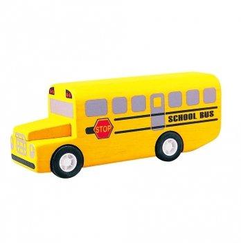 Деревянная машинка PlanToys® Школьный автобус