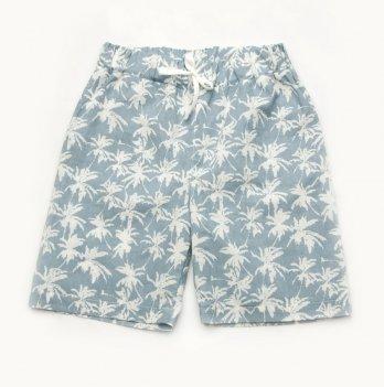 Шорты для мальчика Модный карапуз Пальмы Голубой 2-9 лет