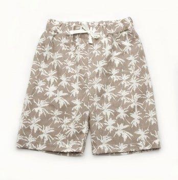 Шорты для мальчика Модный карапуз Пальмы Бежевый 2-9 лет