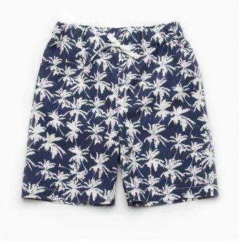 Шорты для мальчика Модный карапуз Пальмы Синий 2-9 лет