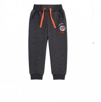 Штаны для мальчика Bembi Черный меланж Трикотаж ШР579 3-11 лет