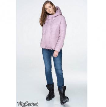 Куртка демисезонная для беременных MySecret, серо-розовая