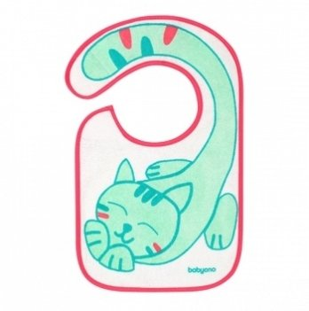 Нагрудник махровый BabyOno Flavour Explorer, Котик