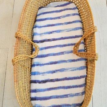 Муслиновая пеленка Embrace Синяя полоска 100х120 см