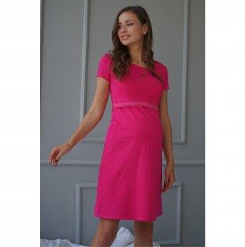 Ночная рубашка для беременных и кормящих мам To Be Малиновый 4138041