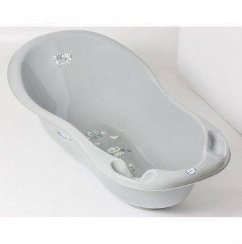 Ванночка детская с термометром и сливом Tega baby Сова Серый 86 см SO-004ODPŁYW-106