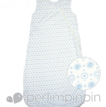 Спальный мешок из хлопка Perlimpinpin голубой