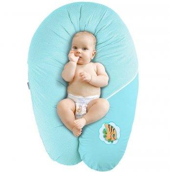Подушка для беременных и кормления Idea Standart Горох бирюза